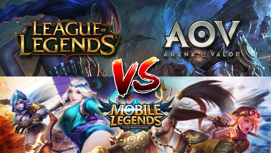 tencent riot games arena of valor vs mobile legends