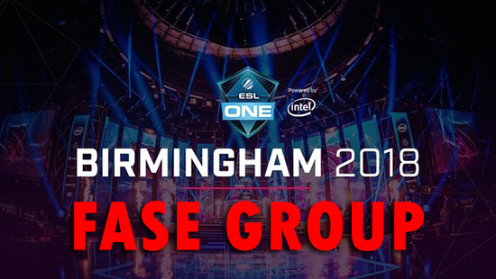 jadwal dan bagan pertandingan fase group esl one birmingham 2018