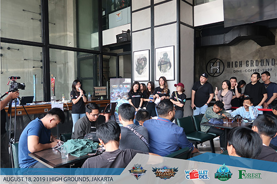 suasana turnamen mobile legends fight forest interactive