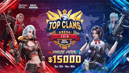 rules of survival akan adakan turnamen top clans arena