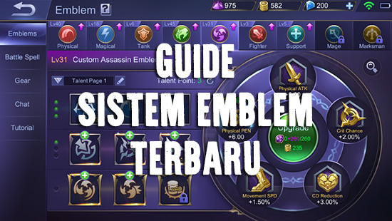 guide mobile legends sistem emblem terbaru