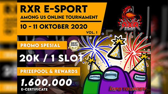 turnamen among us oktober 2020 rxr esport season 1 logo