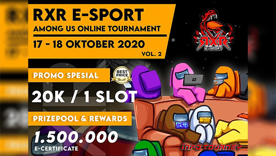 turnamen among us oktober 2020 rxr esport season 2 logo