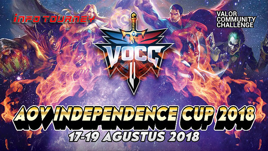 turnamen aov arena of valor independence cup 2018 agustus 2018 logo