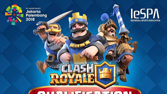turnamen clash royale kualifikasi asian games 2018 mei 2018 logo