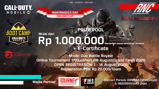 turnamen codm call of duty mobile agustus 2020 rnc independence day logo