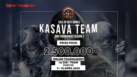 turnamen codm call of duty mobile april 2020 kasava team season 2 logo