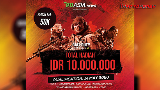turnamen codm call of duty mobile mei 2020 dbasia news bossnya tournament logo
