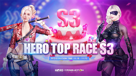 turnamen crisis action hero top race season 3 logo