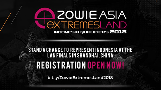 turnamen csgo counter strike global offensive zowie extremesland indonesia qualifier 2018 logo