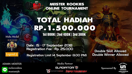 turnamen dota2 meister rookies tournament september 2018 logo