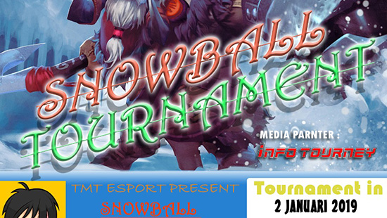 turnamen dota2 snowball tournament januari 2019 logo