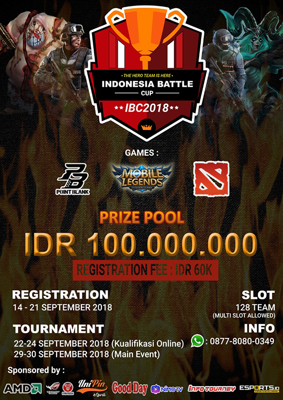 turnamen dota2 indonesia battle cup 2018 september 2018 poster
