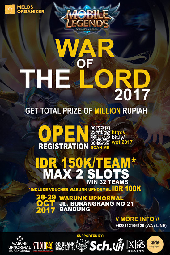 Turnamen Mobile Legend Bandung – War of The Lord 2017