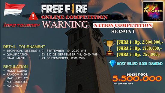 turnamen ff free fire september 2019 national competition season 1 logo