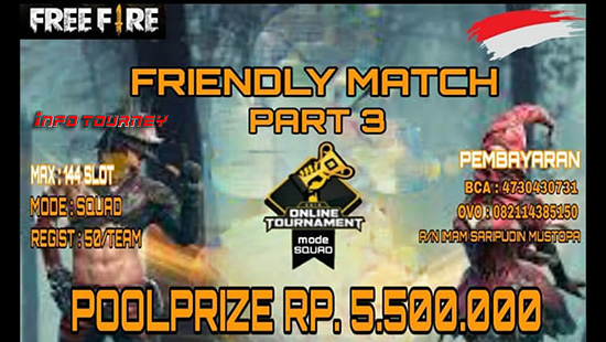 turnamen ff free fire agustus 2019 friendly match season 3 logo