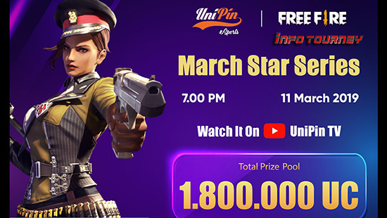 turnamen ff free fire ff unipincom march star series maret 2019 logo