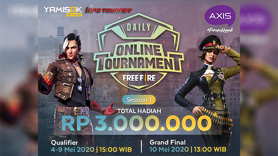 turnamen ff free fire mei 2020 axix daily session 1 logo