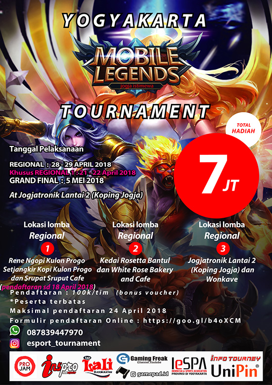 turnamen mobile legends  yogyakarta tournament