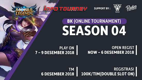 turnamen ml mole mobile legends bk season 4 desember 2018 logo