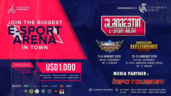 turnamen ml mole mobile legends cladestin esport arena januari 2019 poster