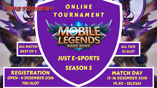 turnamen ml mole mobile legends just esports season 3 desember 2018 logo