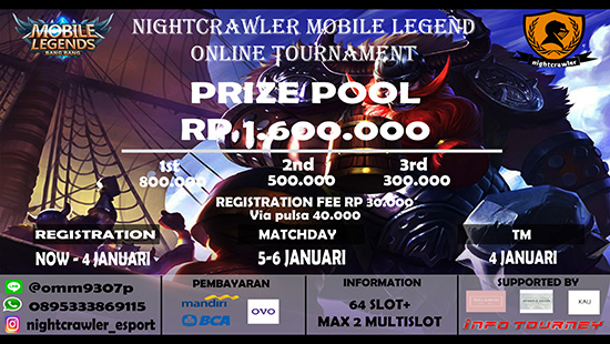 turnamen ml mole mobile legends nightcrawler season 2 januari 2019 logo