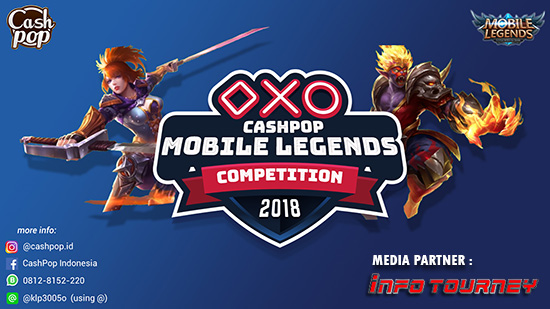 turnamen ml mole mobile legends cashpop competition desember 2018 logo
