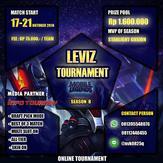 Turnamen Mobile Legends - LEVIZ TOURNAMENT SEASON 8