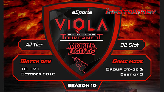 turnamen ml mole mobile legends viola esports season 10 oktober 2018 logo