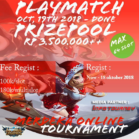 turnamen mobile legends merdeka online tournament oktober 2018 poster
