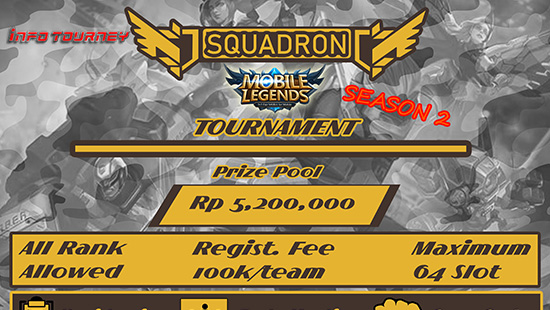 turnamen mobile legends squadron tournament season 2 oktober 2018 logo