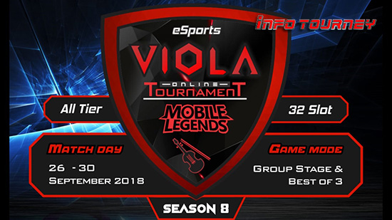 turnamen mobile legends viola esports season 8 september 2018 logo