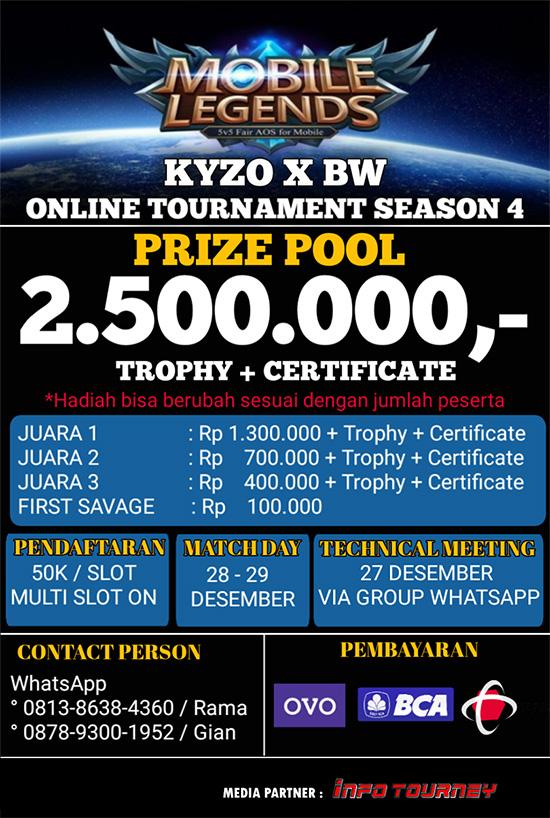 Turnamen Mobile Legends - KYZO X BW SEASON 4