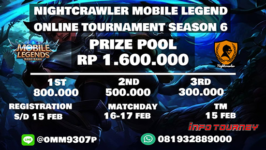 turnamen ml mole mobile legends nightcrawler season 6 februari 2019 logo