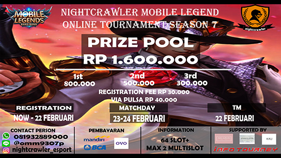 turnamen ml mole mobile legends nightcrawler season 7 februari 2019 logo