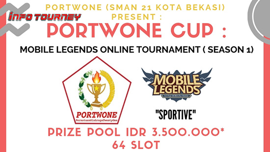 turnamen ml mole mobile legends portwone cup season 1 februari 2019 logo