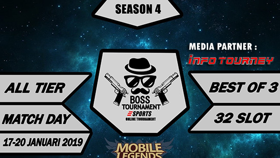 turnamen ml mole mobile legends boss tournament season 4 januari 2019 logo