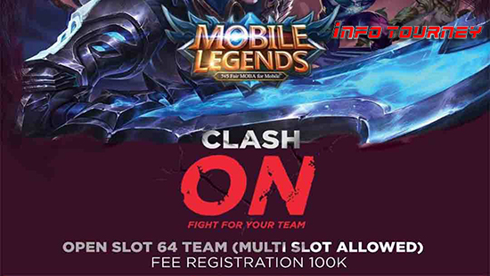 turnamen ml mole mobile legends clash on esports tournament januari 2019 logo