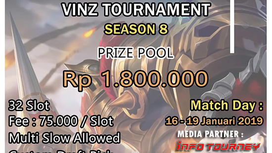 turnamen ml mole mobile legends vinz season 8 januari 2019 logo