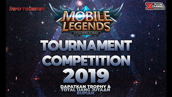 turnamen ml mole mobile legends xchannel 909 fm competition mei 2019 logo