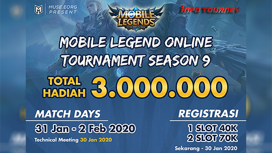 turnamen ml mlbb mole mobile legends januari 2020 muse season 9 logo 1