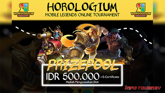 turnamen ml mlbb mole mobile legends april 2021 horologium organizer season 20 logo