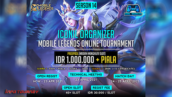 turnamen ml mlbb mole mobile legends april 2021 iconil organizer season 14 logo