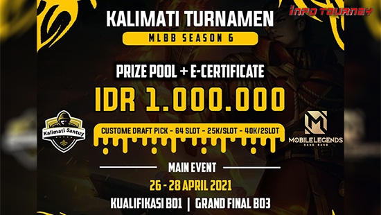 turnamen ml mlbb mole mobile legends april 2021 kalimati season 6 logo