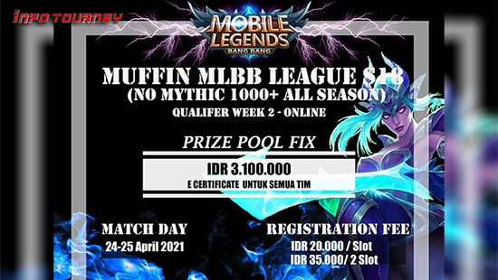 turnamen ml mlbb mole mobile legends april 2021 muffin league season 18 week 2 logo