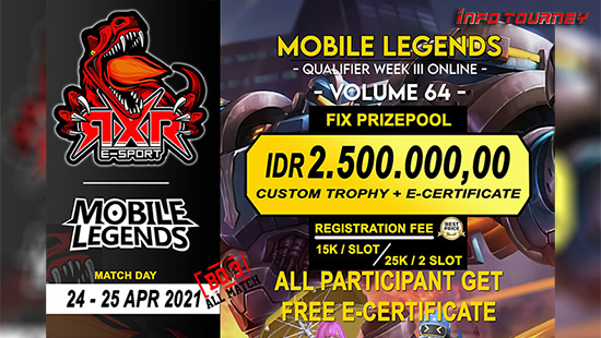 turnamen ml mlbb mole mobile legends april 2021 rxr season 64 week 3 logo