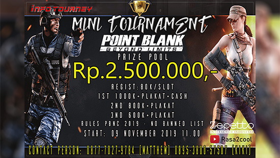 turnamen pb point blank november 2019 gamer village logo