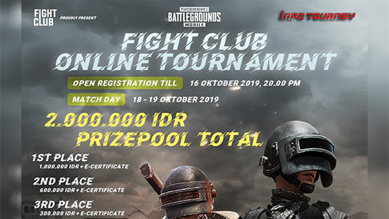 turnamen pubgm pubgmobile oktober 2019 fight club logo