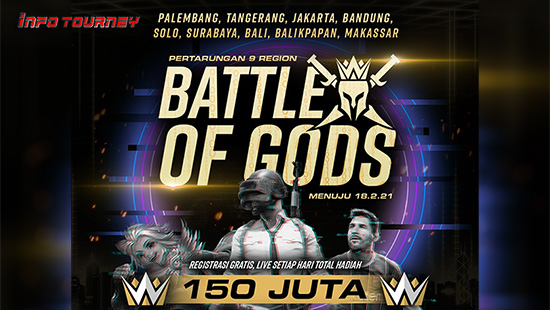 turnamen pubgm pubgmobile februari 2021 battle of gods logo